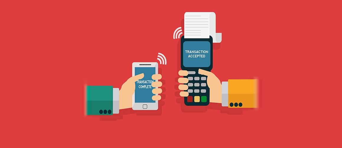 Transazione tramite telefono su POS contactless
