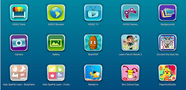 kidoz: gallery delle applicazioni per il parental control