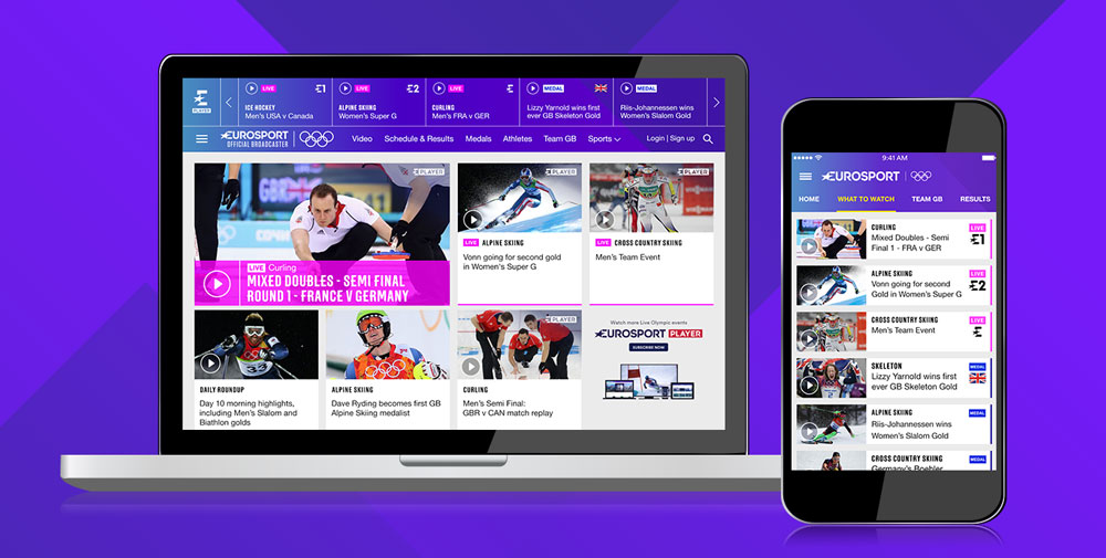 eurosport player: streaming e dirette olimpiadi 2018