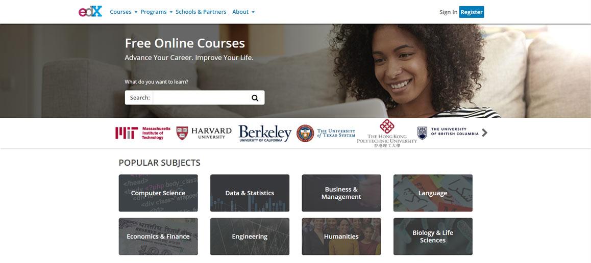 homepage edx, corsi online gratuiti