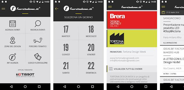 Fuorisalone 2018: l'app