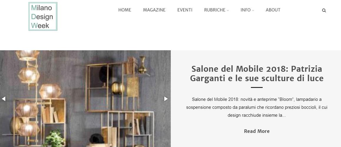 Come seguire la Milano Design Week 2018: homepage del sito